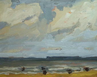 Beach Day | Original Painting Landscape Painting Oil Painting | 6.5 x 9.5