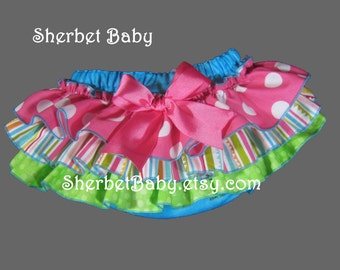 Handmade Sassy Pants Ruffled Diaper Cover Bloomer Candy Shop Theme