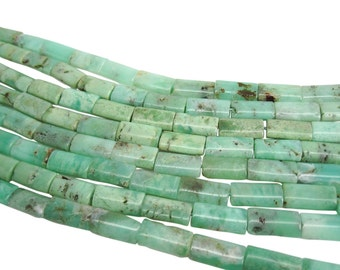 Chrysophrase Beads, Chrysoprase, Rectangles, Chrysoprase Pillows, 8mm x 17mm, SKU 3958A