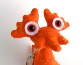 Alien Keychain, Easter Toy for Boys Easter Basket, Cute Keychain, Zipper Pull by Adopt an Alien named Kirkland