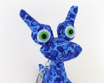 Alien Keychain by Adopt an Alien, Cute Keychain, Monster Keychain, Stocking Stuffer Toy for Boys named Evan