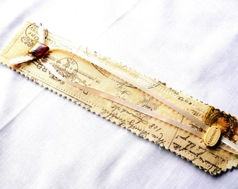 Bookmark...Postcard Design...Hand Made with Fabric