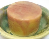 Jasmine Rose Soap - Hand Soap - Round Soap - Valentines Day gift - cold processed soap - marbled soap