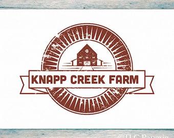 Premade Logo Design, Custom Logo,  Farm Logo, Barn Logo, Business Logo
