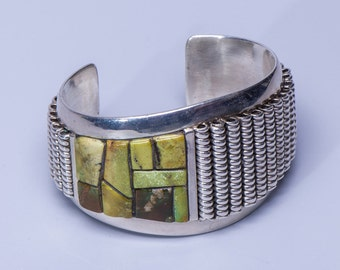 Na Na Ping - Michael Garcia - Heavy Turquoise & Sterling Cuff