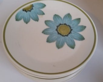 7 Noritake Up-Sa daisy bread and butter plates