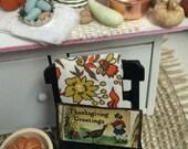 Miniature Dollhouse Thanksgiving Word Art- 1:12 scale