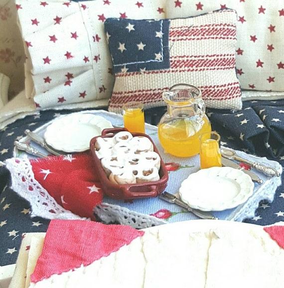 Miniature Dollhouse Cinnamon Roll Breakfast Tray 1:12 Scale