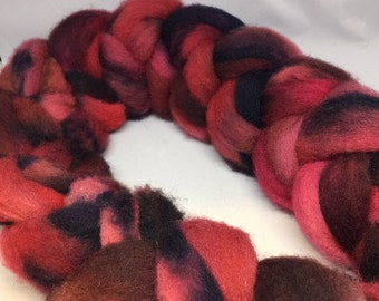 Rosy Finch - 4oz - 114g - Carded Tunis Roving