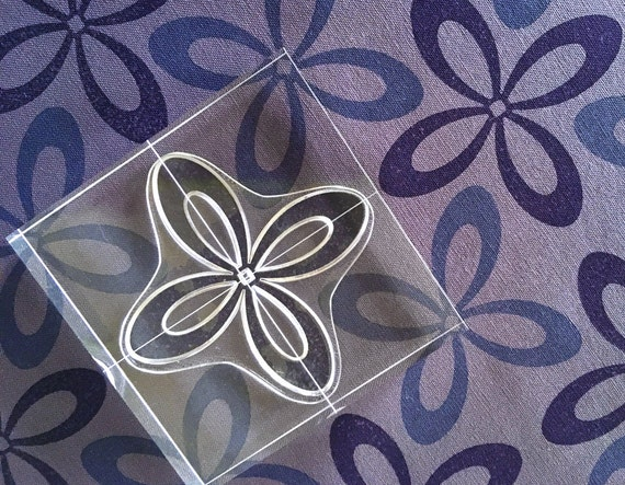 Clear Stamp Set with a Contemporary Style - Set of Six Stamps - Modern Flowers