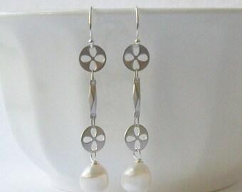 Pearl Dangle Earrings, Wedding Jewelry