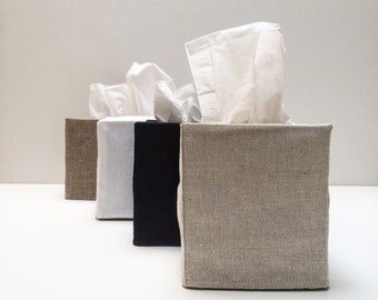 3 linen tissue covers