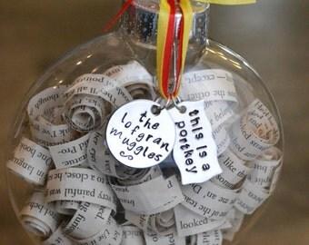 Customized Harry Potter Christmas Ornament Portkey