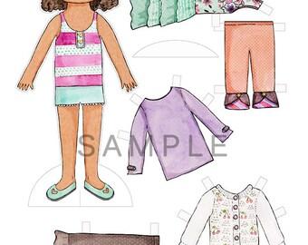 Matilda Jane Gianna Paper Doll Set