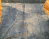 Distressed blue soft lambskin leather - a full 6 square foot hide