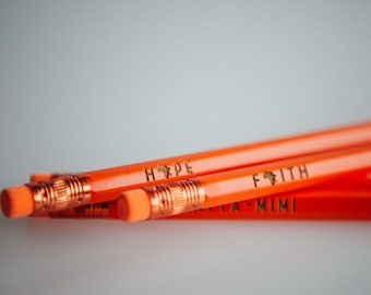 Engraved quote pencil party favor gifts
