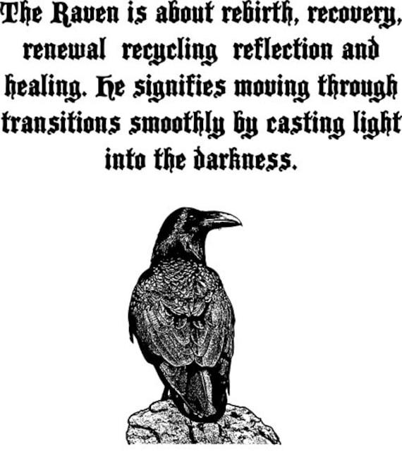 Raven Spirit bird art printable clip art png clipart Digital Image Download graphics totem animal spirit quotes verses printable wall art