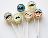 3D mustaches Lollipops by Vintage Confections