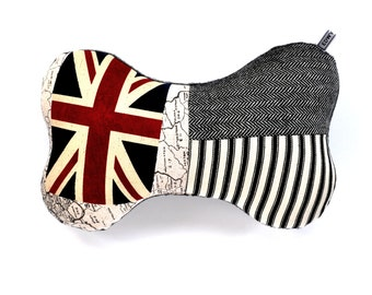 Union Jack Bone Pillow