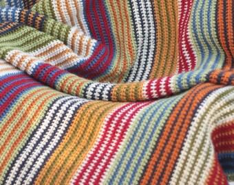 Afghan stripe blanket, crochet
