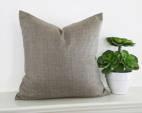Throw Pillows For Taupe Couch : Textured Neutral Pillow Covers Taupe Grey Throw Pillows Wool