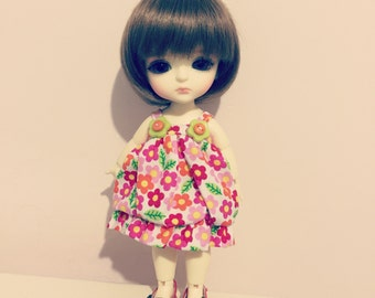 Sunny Flora and dots dots pattern cutie dress for Lati Yellow or Pukifee
