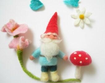 Gnome,Felt Gnome Ornament,Spring ornament, Felt Ornament,Gnome,Woodland ornament