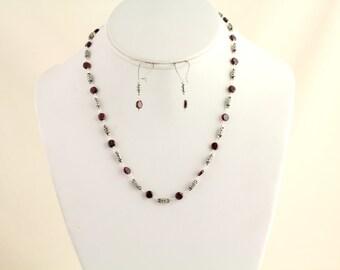 Garnet Necklace. Listing 260685732