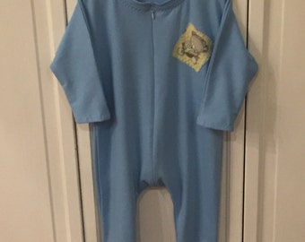 Organic - Eco friendly Baby Bamboo Sleeper Onesie, best seller for infant to toddler, in blue or natural