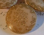 Reserve for Risa 6-Antique Victorian Opaque Glass Buttons