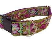 "Beautiful Chipmunk Dog Collar - Martingale or Buckle 1.5"" Dog Collar"