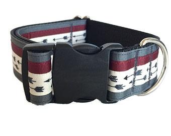 Modern Arrow Dog Collar - Buckle or Martingale