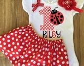 Ladybug Birthday Skirt Set - Ladybug Outfit