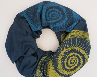 8TH ANNIVERSARY SALE infinity scarf, soft organic cotton scarf, cotton and bamboo jersey scarf