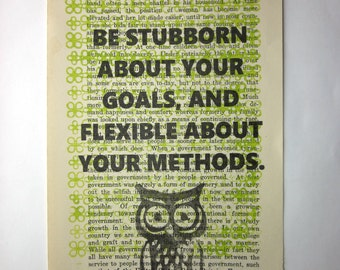 Art print motivation: Be stubborn about your goals, and flexible about your methods
