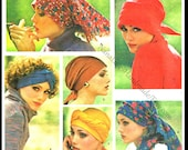 VOGUE 1294 - Vintage 1970s - Retro Headwraps Head Scarves & Turbans - New York Sewing Pattern