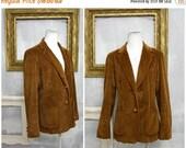 Summer Sale Professor Western | Vintage Brown Soft Corduroy Sportscoat Blazer | Funky 1970s | Womens S Med | 34 Bust | Made in USA