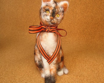 Calico Cat Needle Felt