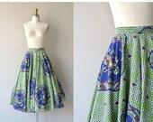 25% OFF SALE Mandala skirt | vintage 1950s skirt | cotton 50s circle skirt
