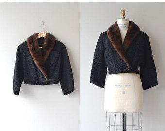 25% OFF.... Broadtail cropped jacket | 1950s persian lamb jacket • vintage 50s fur coat