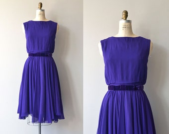 Imperi chiffon dress   vintage 1960s dress   silk chiffon 60s dress