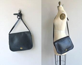 Coach 'Stewardess' bag   vintage Coach purse   black Coach shoulder bag