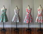 Floral Bridesmaid Dresses / Handmade / Floral / Custom / Wedding / Rustic / Mismatched / Bridesmaids / Vintage Inspired Dress