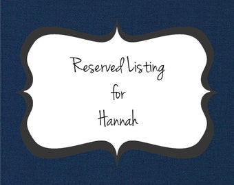 Reserved Listing for Hannah's Bridesmaids - Deposit