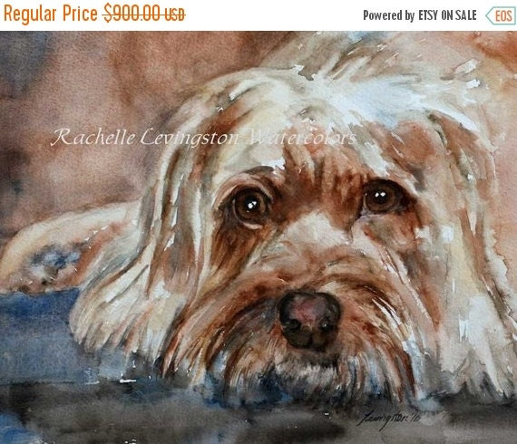 Custom Pet Portrait Custom Pet Painting Gift for dog lover Custom dog portrait ORIGINAL Watercolor painting 8 x10 Can make prints or cards