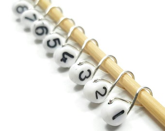 Knit Stitch Markers - Numbers Infinity - Stitch Markers - Small, Medium, Large, or XL
