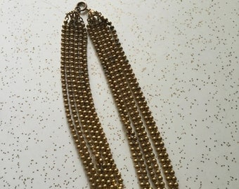 Golden Means - 1930's Golden Metal Ball Chain Necklace