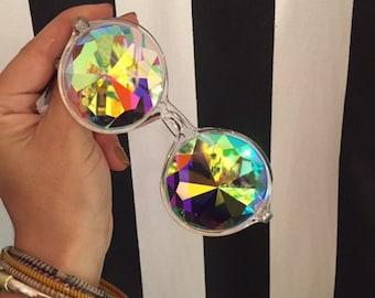 Crystal Clear Frame Crazy Eyes  PRISM Glasses