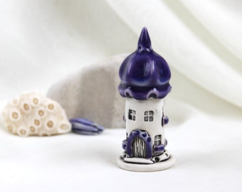 Purple lavender House of tiny fairies - Hand Made Ceramic Eco-Friendly Home Decor by studio Vishnya