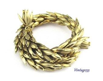 Bracelet Gold tone Wheat Wrap